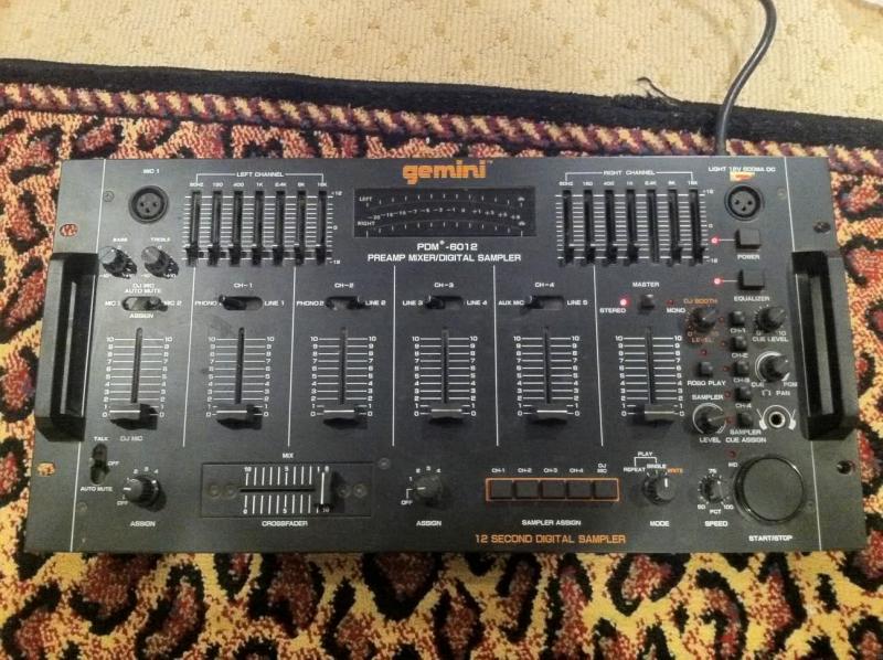 DJ Software - VirtualDJ - Gemini Pre-amp with digital