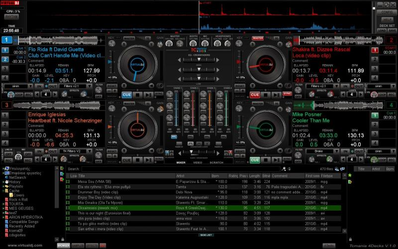 VIRTUAL DJ SOFTWARE - Skins - VirtualDJ 7 (4 Decks Swap)