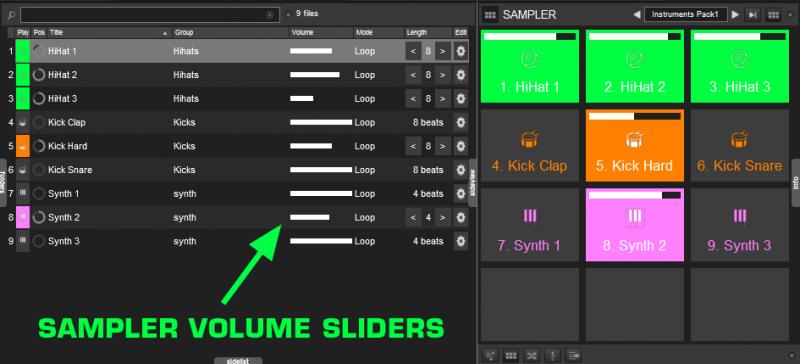 Virtual dj software sampler in browser area (pc win 8. 1)