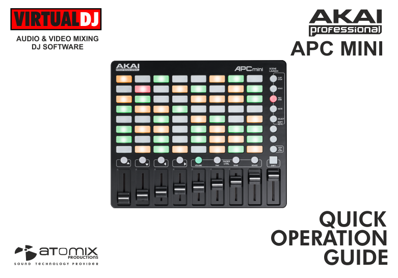 DJ Software - VirtualDJ - Hardware Manuals - AKAI - APC MINI