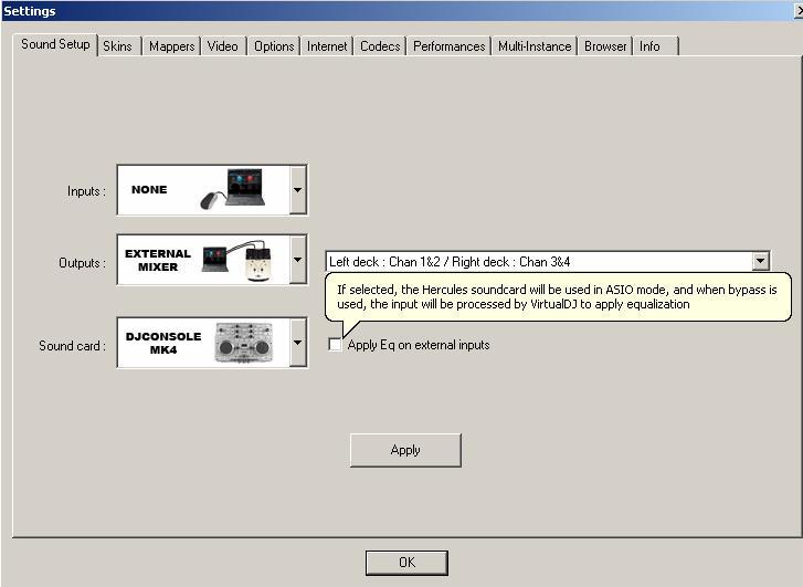 DJ Software - VirtualDJ - ASIO with Hercules Mk4