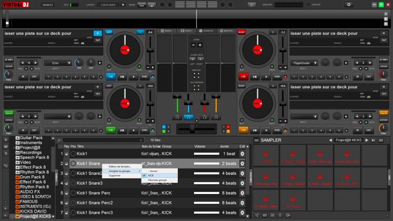 Samples for virtual dj.