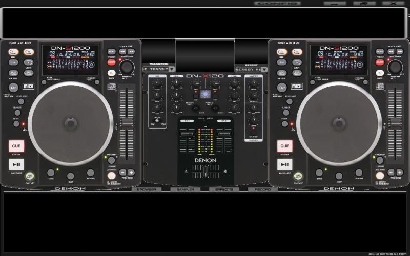 denon s1200 vs x 24 virtual dj skin